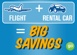 flight + rental car = big savings GO