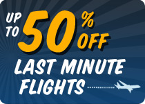 50% off Flights