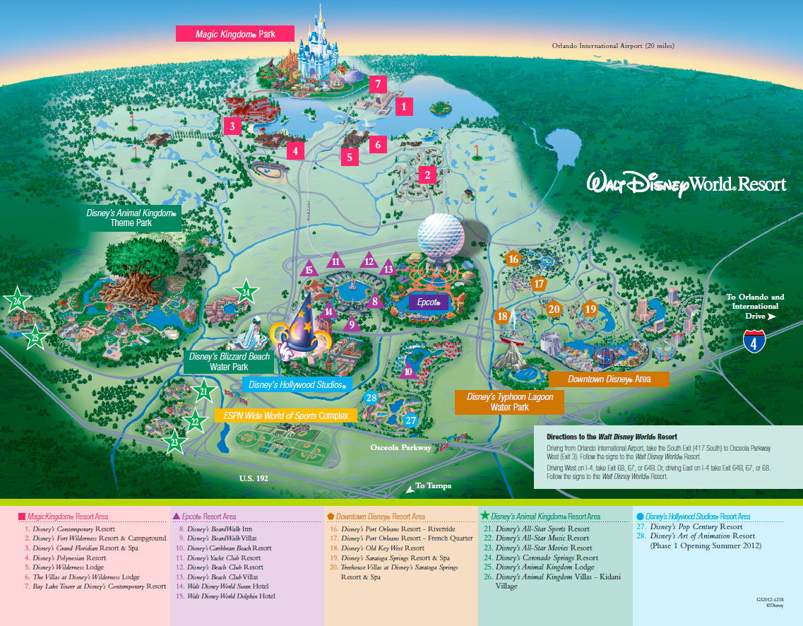 Map of Disney World The DIS Disney Discussion Forums